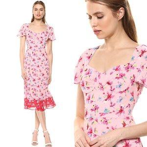 Nanette Lepore Sweetheart Floral Midi Dress